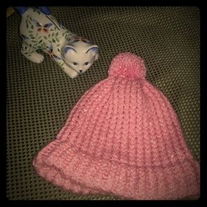 Hand knitted stocking cap